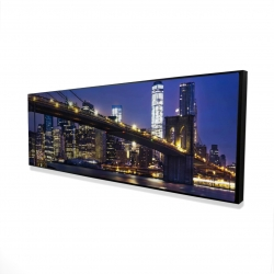 Framed 16 x 48 - 3D - City at night