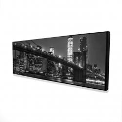 Framed 16 x 48 - 3D - City under the night