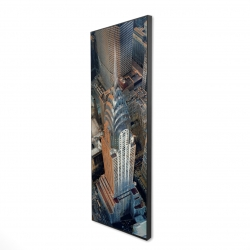 Framed 16 x 48 - 3D - Chrysler building at nyc