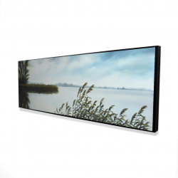 Framed 16 x 48 - 3D - Quiet lake