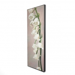 Framed 16 x 48 - 3D - Lily of the valley flowers