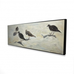 Framed 16 x 48 - 3D - Sandpiper birds