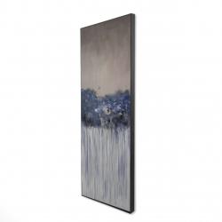 Framed 16 x 48 - 3D - Bouquet of blue flowers