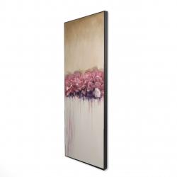 Framed 16 x 48 - 3D - Vintage flower cluster