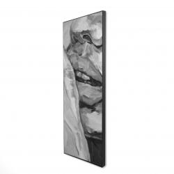 Framed 16 x 48 - 3D - Luscious lips