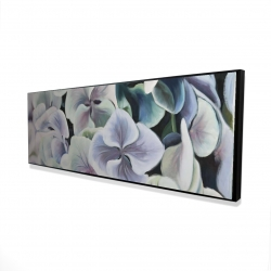 Framed 16 x 48 - 3D - Colorful hydrangea flowers