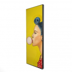 Framed 16 x 48 - 3D - Retro woman with beautiful ponytail