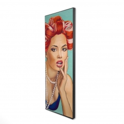 Framed 20 x 60 - 3D - Pin up girl with curlers
