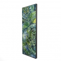 Framed 16 x 48 - 3D - Abstract succulents