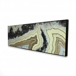 Framed 16 x 48 - 3D - Lace agate