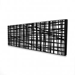 Framed 16 x 48 - 3D - Abstract small stripes