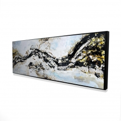 Framed 16 x 48 - 3D - Abstract and texturized paint splash