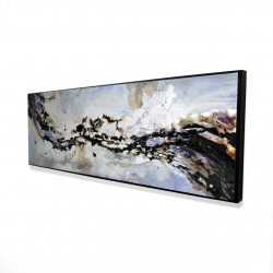 Framed 16 x 48 - 3D - Texturized abstract wave