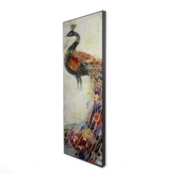 Framed 16 x 48 - 3D - Majestic peacock