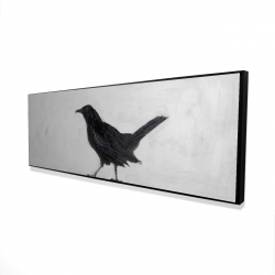 Framed 16 x 48 - 3D - Lonely crow