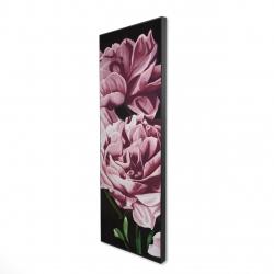 Framed 16 x 48 - 3D - Pink peonies