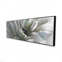 Framed 16 x 48 - 3D - White chrysanthemum