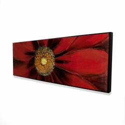 Framed 16 x 48 - 3D - Red daisy