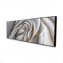 Framed 16 x 48 - 3D - White rose delicate
