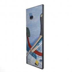 Framed 16 x 48 - 3D - Hockey sticks on ice