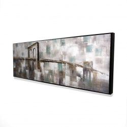 Framed 16 x 48 - 3D - Abstract paint spotted bridge