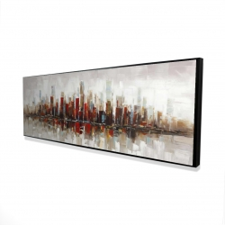 Framed 16 x 48 - 3D - Abstract colorful skyscrapers