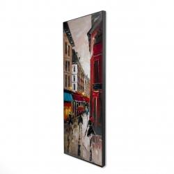 Framed 16 x 48 - 3D - European alley