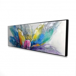 Framed 20 x 60 - 3D - Abstract flower with newspaper