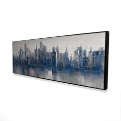 Framed 16 x 48 - 3D - Melancholy city