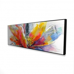 Framed 16 x 48 - 3D - Abstract flower with texture