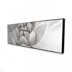 Framed 16 x 48 - 3D - Delicate white chrysanthemum
