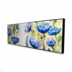 Framed 16 x 48 - 3D - Blue garden