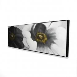 Framed 16 x 48 - 3D - Assorted white flowers