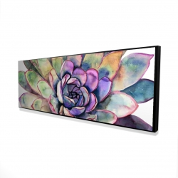 Framed 16 x 48 - 3D - Multicolored succulent
