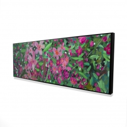 Framed 16 x 48 - 3D - Cherry tree blooming