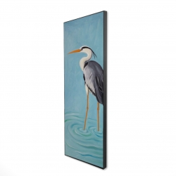 Framed 16 x 48 - 3D - Grey heron