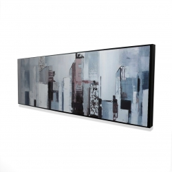 Framed 20 x 60 - 3D - Abstract building shapes