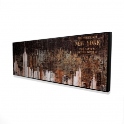 Framed 16 x 48 - 3D - The empire city of newyork