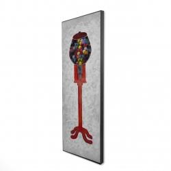 Framed 16 x 48 - 3D - Chewing gum dispenser