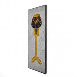 Framed 16 x 48 - 3D - Yellow gum dispenser