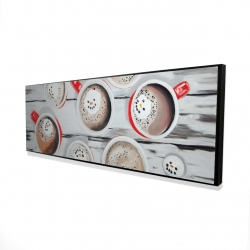Framed 16 x 48 - 3D - Holiday hot chocolate