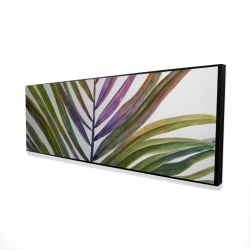 Framed 16 x 48 - 3D - Watercolor tropical palm leave