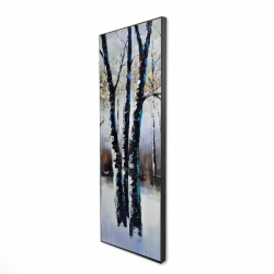 Framed 16 x 48 - 3D - Frosted trees