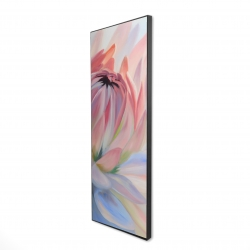 Framed 16 x 48 - 3D - Lotus pastel flower
