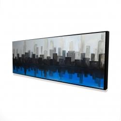 Framed 16 x 48 - 3D - Blue city