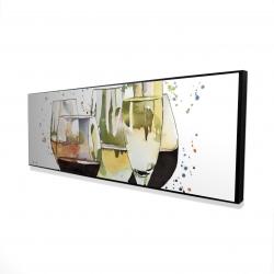 Framed 16 x 48 - 3D - Beautiful wine glasses