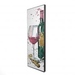 Framed 16 x 48 - 3D - Bottle of red wine