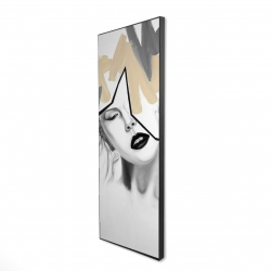 Framed 16 x 48 - 3D - Divided woman