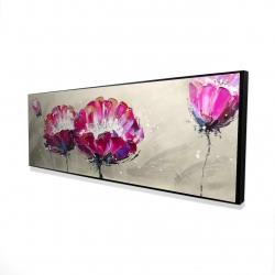 Framed 16 x 48 - 3D - Two wild flowers