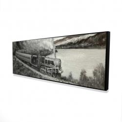 Framed 16 x 48 - 3D - Vintage passenger locomotive